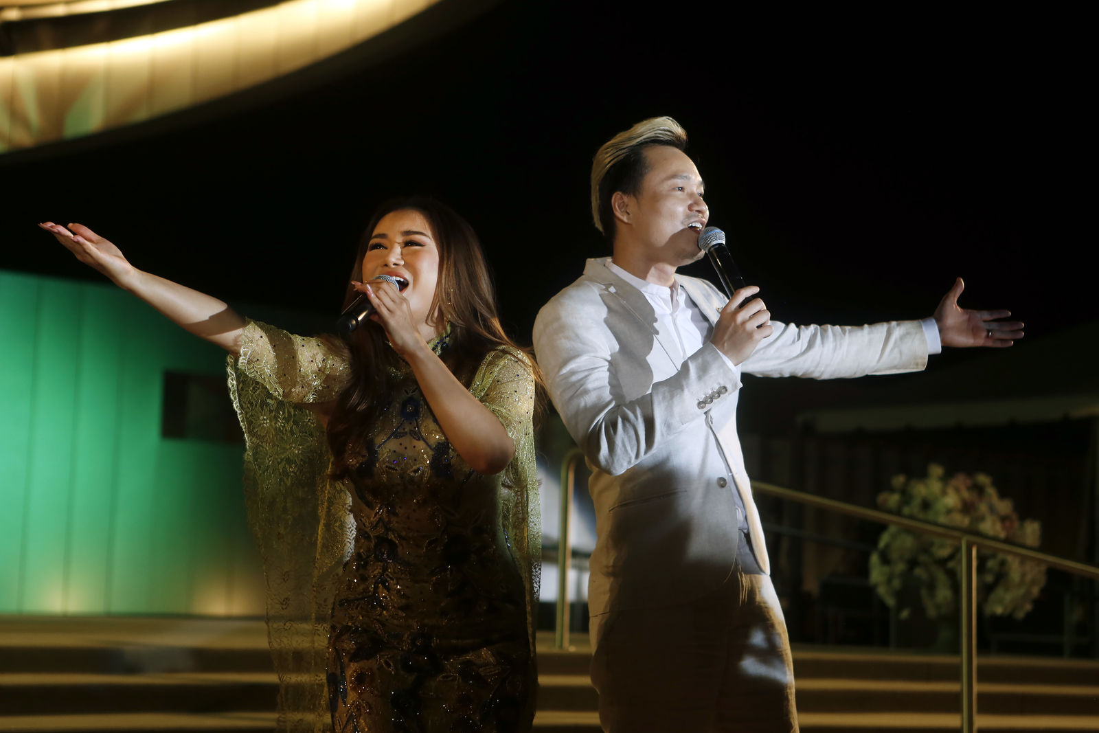 Singers performing during the evening of the Solemn Blessing of the Our Lady of La Vang Shrine. Photo courtesy Diocese of Orange.